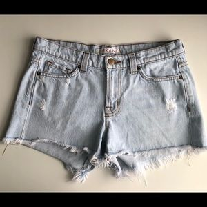 J Brand Lightweight Denim Distressed Jean Shorts